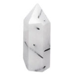 New Natural White Black Natural Quartz Crystals Point Healing Rock Stone Gifts Home Decorations