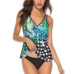 New Split Printing Tankini Modest Swimwear For Women