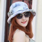 New Women Polyester Breathable UV Protection Bucket Cap