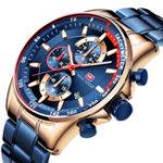 New MINI FOCUS MF0218G Working Little Dial Men Wristwatch