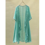 New Vintage Solid Color Embroidery Irregular Women Cardigans
