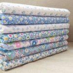 New 7Pcs/Set Cotton Fabric Blue&White Handmade DIY Sewing Cloth