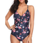 New One-Piece Printed Women Backless Swimwear
