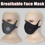 New Anti Haze Elastic Face Mask Anti Pollution Breathable Dust Black/Grey