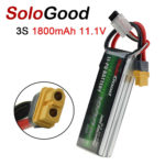 New SoloGood 11.1V 1800mAh 100C 3S XT30 Plug Lipo Battery for Rc Racing Car Model Parts