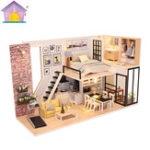New Hoomeda M038 DIY Doll House Give You Happiness With Cover Music Movement Gift Decor Toys