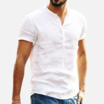 New Mens Summer Breathable Cotton Casual T-shirts