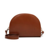New Women Fashion Brief Semi-Circular Shell Bag Shoulder Bag