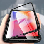 New Bakeey 360° Magnetic Adsorption Metal Tempered Glass Flip Protective Case for Xiaomi Redmi 6A