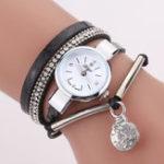 New DUOYA D254 Crystal Pendant Women Retro Style Bracelet Watch