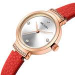 New MEGIR 4207 Casual Style Leather Strap Women Quartz Watch