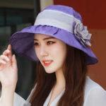 New Women Cotton Patchwork Wide Brimmed Bucket Hat