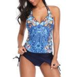 New Split Retro Suspender Skirt Tankinis Swimsuits For Women