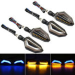 New 4Pcs 12V Motorcycle Blue LED Turn Signal Indicator Lights For Kawasaki/Yamaha/BMW/Honda/KTM