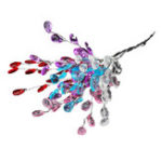 New 50PCS DIY Clear Acrylic Drops Crystal Bead Spray Wired Stems Wedding Craft Decorations