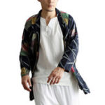 New Mens Casual National Linen Kimono Cardigans