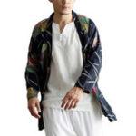 New Mens Casual National Linen Kimono Cardigans