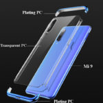 New Bakeey 3 In 1 Detachable Elac-plating Transparent Hard PC Protective Case For Xiaomi Mi9  / Xiaomi Mi 9 Transparent Edition