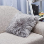New Throw Pillow Cover Cushion Case Faux Fur Fluffy Plush Soft Sofa Solid Home Decor