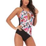 New Plus Size One Pieces Conservative Split Triangle Bikini
