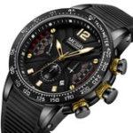 New MEGIR 2106G Sport Chronograph Silicone Men Quartz Watch