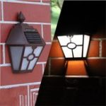New Solar Powered Wall Light Mount LED Landscape Fence Yard Garden Path Lamp Outdoor