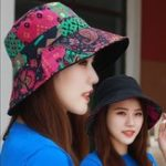 New Women Polyester Double-Sided Wear UV Protection Bucket Cap