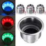 New 14 LED Stainless Steel Cup Drink Holder Polished For Marine Motorboat Car Truck RV