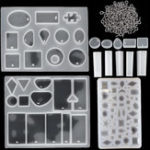 New 113Pcs DIY Resin Casting Mould Pendant Molds Jewelry Making Silicone Craft Kit