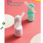 New KCASA Smart Electric Capsule Fan Ultra-quiet USB Charging Handheld Mini Folding Fan Desktop Fan