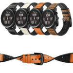 New 22mm Silica gel Inside External Leather Watch Band Watch Strap for Xiaomi Amazfit 2