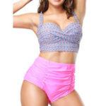 New High Waist Big Chest Plus Size Split Bikini