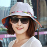 New Women Polyester Bandaged Bucket Hat for Holiday