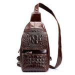 New Genuine Leather Alligator Vintage Crossbody Bag Chest Bag