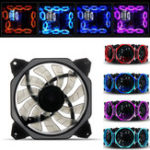 New 120mm 3Pin 4Pin Monochrome Color Light Cooling Fan for Desktop PC Computer