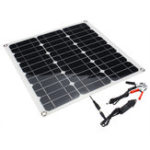 New Portable 40W 12V/5V Solar Panel Battery DC/USB Charger For RV Boat Camping Traveling