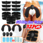 New KALOAD 32pcs/set ABS Stimulator Hip Trainer Buttocks Lifter Abdominal Muscle Trainer Sports Fitness Body Shaping
