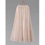 New Chiffon Elastic Waist Big Swing Maxi Skirt