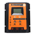 New 12/24V Dual 2.4A USB LCD Solar Panel Controller Solar Charge Controller