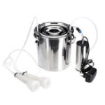 New 5L Electric Milking Machine Stainless Steel Cow Goat Sheep Bucket Suction Milker Vacuum Pump Household