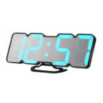 New Loskii HC-26 3D Colorful LED Digital Clock Remote Control Temperature Alarm Clock