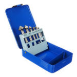 New 6pcs 90 Degree 3 Flute Countersink Deburring Tapered Drill HSS Bit Screw Set With Box