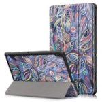 New Tri-Fold Printing Tablet Case Cover for Lenovo Tab E10 Tablet – Tree leaves
