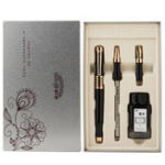 New HERO 1311 Fountain Pen Black And Bright Three-pen Pen Ink Gift Box Set For Student Business
