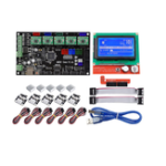 New MKS GEN V1.4 Mainboard Motherboard+ 12864 LCD Display Screen + 5x A4988 Driver + 6x Limit Switch Kit For 3D Printer