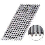 New 10pcs 150mm SQ2 Square Driver Bit Screwdriver Bits Set S2 Steel 1/4 Inch Hex Shank Magnetic For Pocket Hole Jig Woodworking Tool