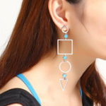 New JASSY® Hollow Geometric Long Drop Earring