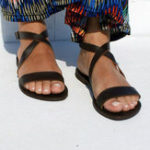 New US Size 5-12 Roman Cross Beach Buckle Flat Sandals