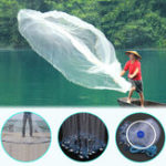 New 2.4M/3.6M Hand Cast Fishing Net Spin Nylon Fish Bait Net With Sinker