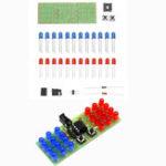 New 3pcs DIY Two Color LED Thunderbolt Flash Kit Teaching Kit